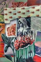 Dans cette pièce, des éléments botaniques et géologiques côtoient l'image religieuse centrale, peinte en noir et blanc, alors que le reste du tableau est en couleur. Ce contraste, en plus du caractère très décoratif de la composition, relaye la religion et son iconographie au rang de matière première à la culture populaire millénaire. Elle devient un symbole vintage que l'on a décontextualisé lors d'un élan de nostalgie purement esthétique, que l'on arbore ironiquement, et non par ferveur nouvellement retrouvée.